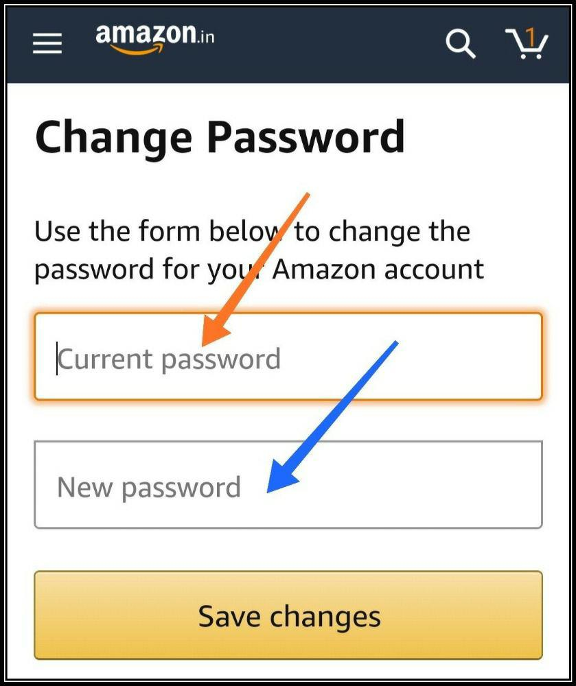 amazon password changing step 5
