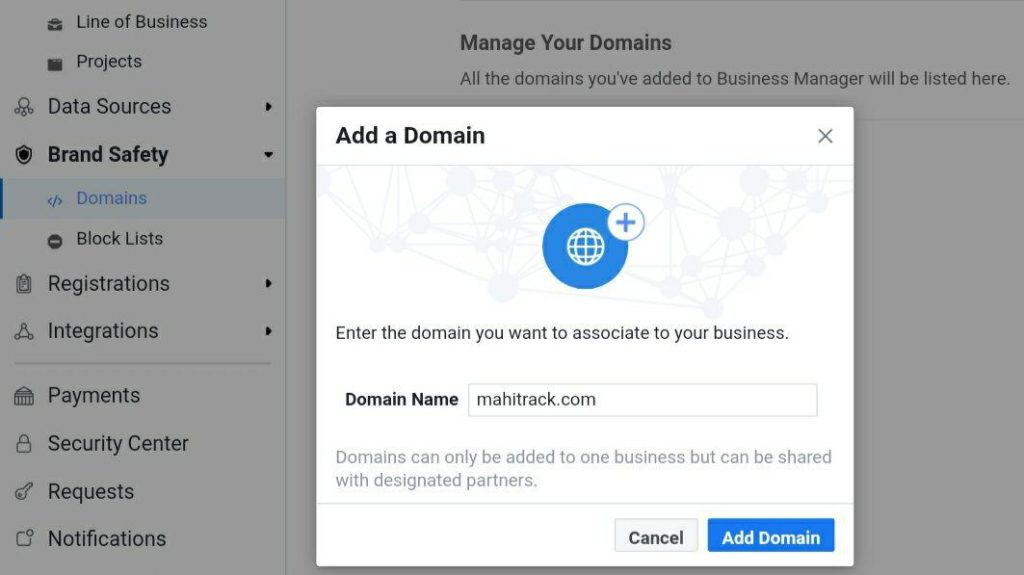 facebook domain verification tutorial in hindi