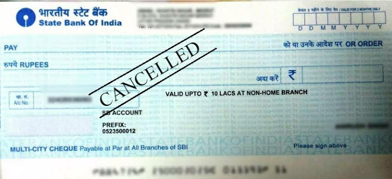 Cancel cheque photo, sbi cancelled cheque photo image