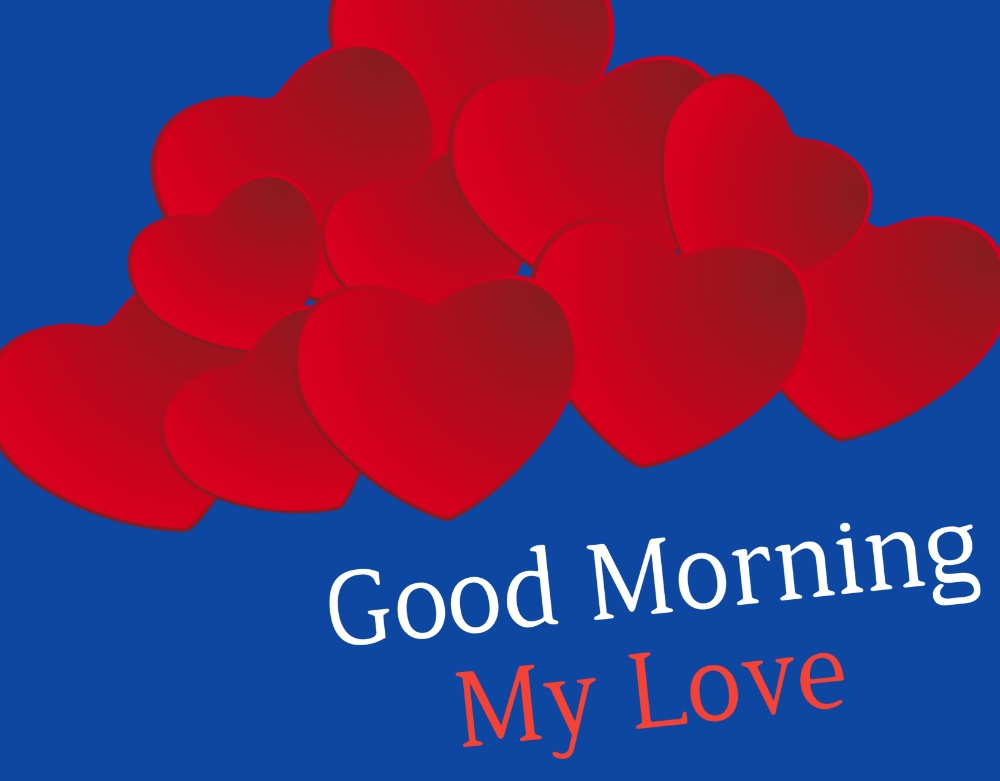good morning image with red heart download