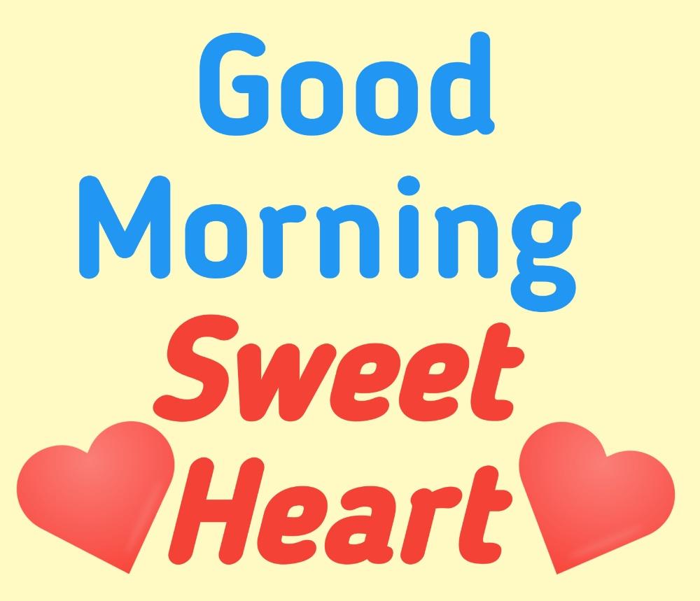 good morning sweet heart photo