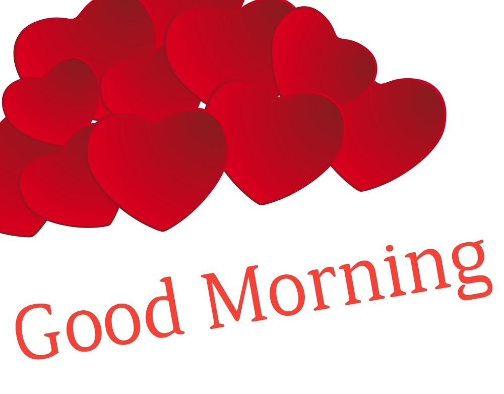 good morning hearts image