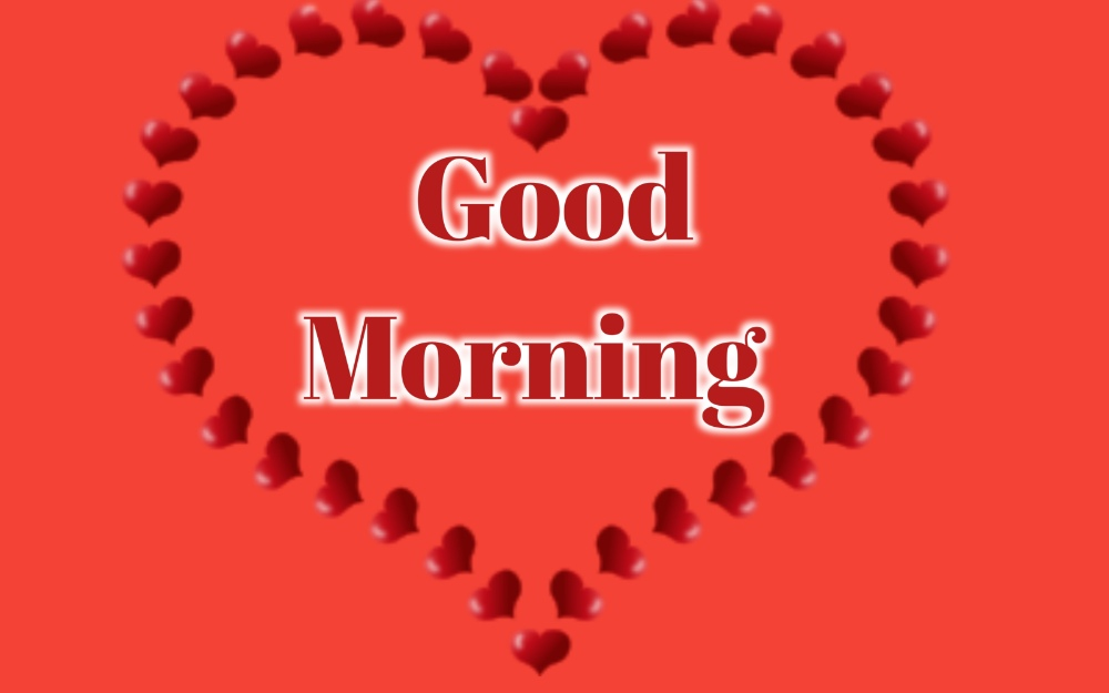 good morning heart photo hd