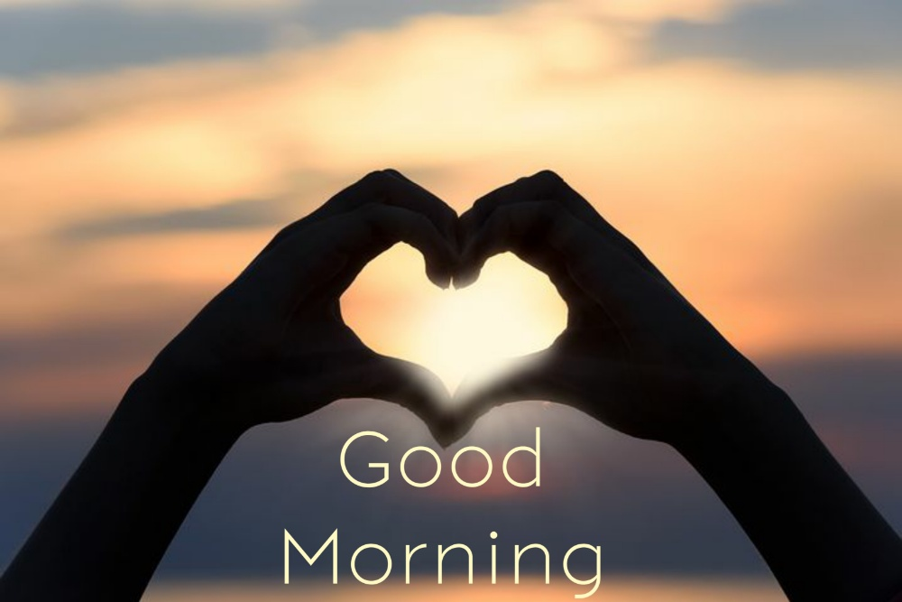 download good morning heart image