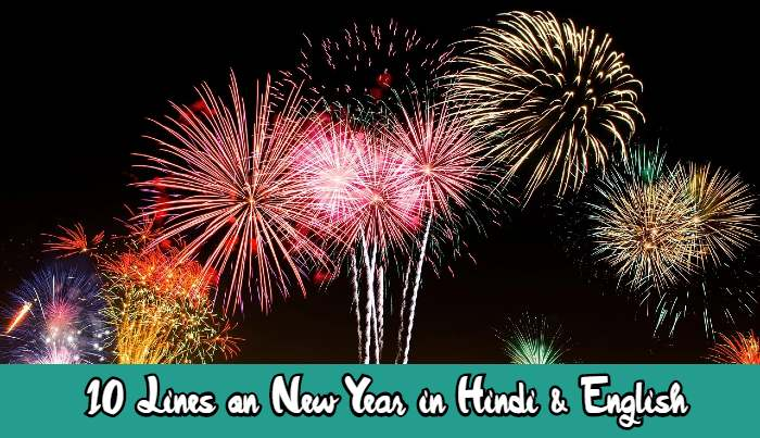 10 Lines on New Year in Hindi & English