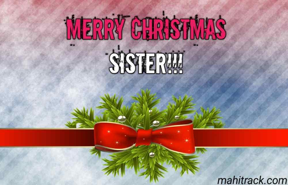 Merry Christmas sister image