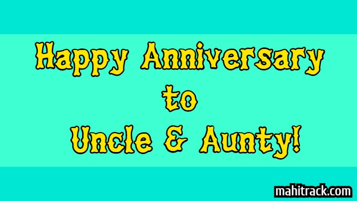 happy anniversary wishes for uncle and aunty in hindi