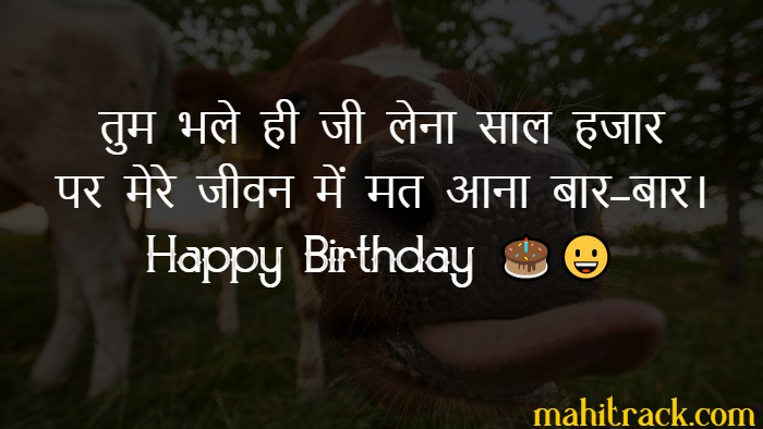 funny birthday wishes in hindi