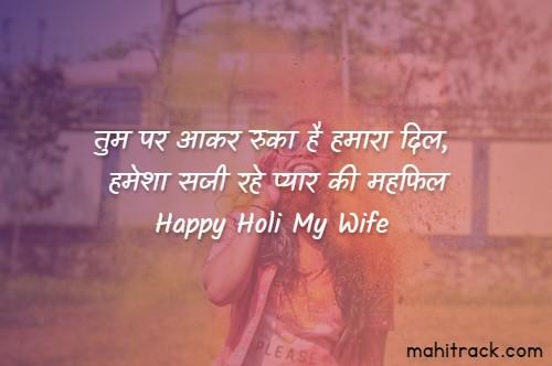 holi shayari for wife in hindi