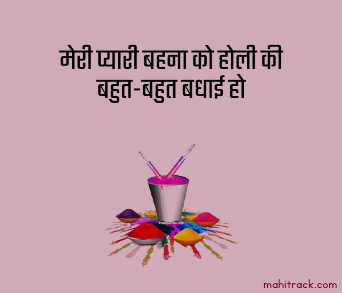 happy holi wishes for sister in hindi