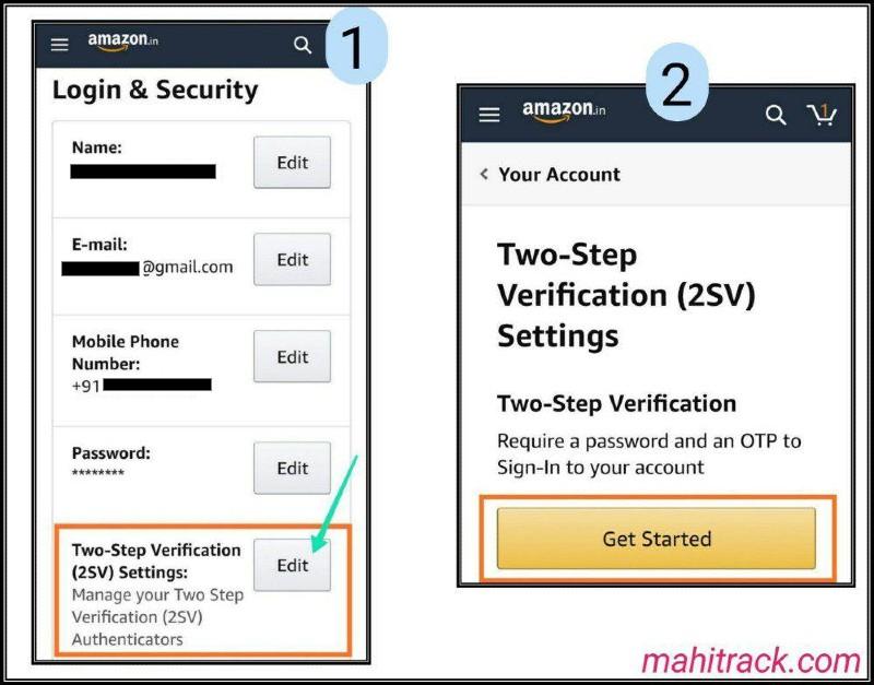 amazon 2 step verification setting