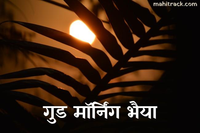 good morning bhaiya
