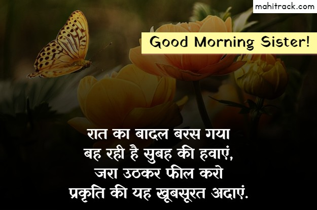 good morning message for sister in hindi